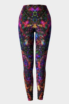The Epic design is another fave of mine - stunning splashing of color on a dark moody background. The original light show is visible on this design as sparks flash by. Wear them for yoga or dance perf