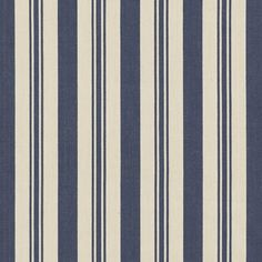 Arbaud Ticking - Navy - Blue & White - Fabric - Products - Ralph Lauren Home - RalphLaurenHome.com