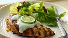 What's new with chicken? Marinate it, grill it and top it with a creamy yogurt sauce.