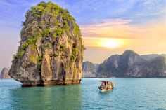 Ha Long Bay in Vietnam, a UNESCO World Heritage Site, is one of the most visually contorted and captivating collections of offshore islands in Asia.