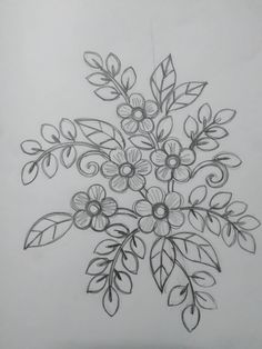 Small but elegant Border Embroidery Designs, Floral Embroidery Patterns, Embroidery Flowers Pattern, Simple Embroidery, Hand Embroidery Stitches, Silk Ribbon Embroidery, Broderie Simple, Motif Floral, Floral Border