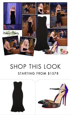 """""""2016 The Tonight Show Starring Jimmy Fallon (10/12)~ Dakota Fanning"""" by snugget9530 ❤ liked on Polyvore featuring Dolce&Gabbana and Christian Louboutin"""