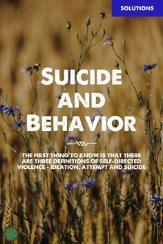 The first three warning signs: 1. Making threats to hurt or kill self 2. Seeking access to pills, weapons or other means 3. Talking or writing about death, dying or suicide Suicide Ideation (thoughts of suicide) In most cases, suicidal ideation is believed to be the start of suicidal planning and action.