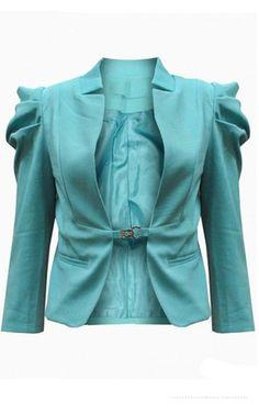 Kaylee Mint Ruched Sleeve Blazer - Lady VB