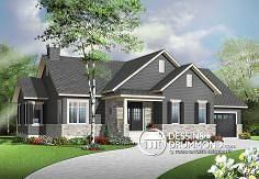 Looking to build an affordable bungalow with master suite, home office, open floor plan layout and garage? This new bungalow plan is for you! Style At Home, Country Style House Plans, The Plan, How To Plan, Bungalow House Plans, Craftsman Style House Plans, Craftsman Ranch, Craftsman Cottage, Modern Bungalow