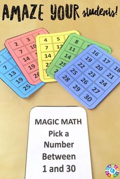 This FREE magic math trick impressed my students, and they loved learning how to do it!
