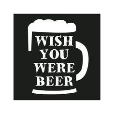 loopdsgn Magnet Wish you were beer