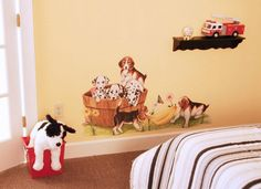 Tatouage's Playful Puppies - Removable Mural