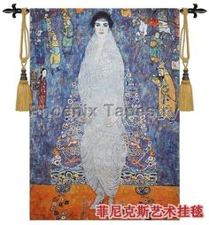 Beautiful tapestry wall hanging Home textile decoration Klimt - Adele Baroness Soft cotton Woven Jacquard products
