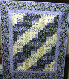 Pansy  Lap Quilt Created Using Designer by SuesCreatingCottage, $125.00