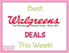Best Deals At Walgreens This Week!  Deals And Coupon Matchups!