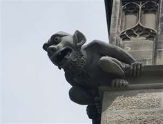 gargoyles are good luck and frightened away evil spirits