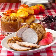 Maple Applesauce on Herb Roasted Pork Loin