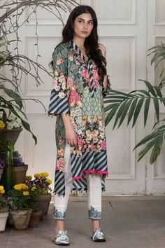 Khaadi Digital Printed 2 Piece Lawn Collection Vol-2 Custom Stitched Suit - Green - T18203