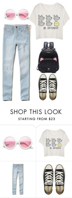 """""""summer"""" by kamillalena on Polyvore featuring ZeroUV, Hollister Co., Converse and cute"""