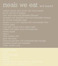 GAPS diet ideas.