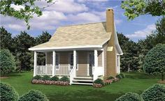 I love this tiny 400 sq foot house... thinking of building this house to live in while our family home is being built, then turning it into a mother in law suite or guest house! (income property....?) love love love
