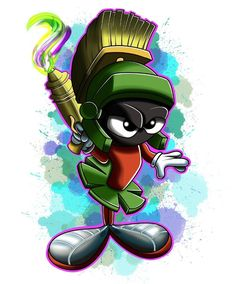 Marvin the Martian, Tattoo Design Looney Tunes Characters, Classic Cartoon Characters, Looney Tunes Cartoons, Cartoon Jokes, Cartoon Tv, Classic Cartoons, Cartoon Shows, Cartoon Drawings, Looney Tunes Wallpaper
