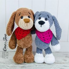 Joe the Puppy Amigurumi Crochet Pattern by One and Two company