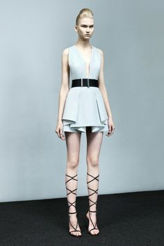 Gladiator in powder blue by Robert Rodriguez Spring 2014 Ready-to-Wear Collection Slideshow on Style.com