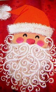 ideas christmas canvas art for kids holidays Christmas Canvas Art, Christmas Art Projects, Noel Christmas, Christmas Paintings, Vintage Christmas Cards, All Things Christmas, Winter Christmas, Holiday Crafts, Navidad Diy