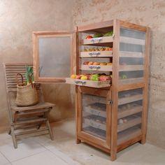 Fruit Storage, Vegetable Storage, Diy Kitchen Storage, Diy Storage, Modern Kitchen Design, Interior Design Kitchen, Home Decor Furniture, Furniture Design, Diy Rangement