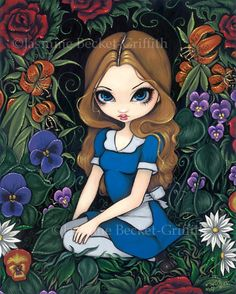 Alice and the Flowers - Strangeling: The Art of Jasmine Becket-Griffith