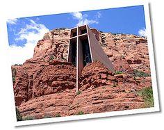 CHURCH BUILT IN THE HILLSIDE OF SEDONA