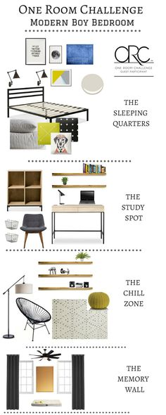 Check out this modern boy's room!