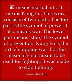 the meaning of kung fu