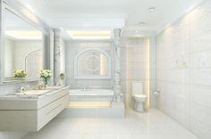 Neo-classical elegant bathroom