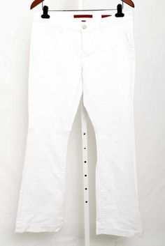 Banana Republic White Wide Leg Denim Jeans Size 8 2321 ST915