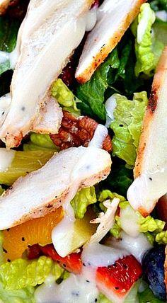 Strawberry PoppySeed Chicken Salad (Panera Copycat)