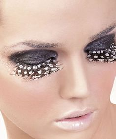 Baci Lingerie Brown-Purple Feather Eyelashes