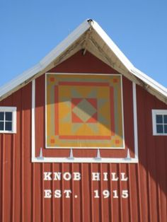 Barn quilt - a neat way to tie the barn quilt with the year the farm was started.
