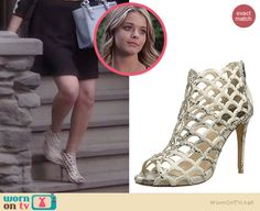 Ali's cream cutout booties on Pretty Little Liars.  Outfit Details: http://wornontv.net/34901/ #PLL