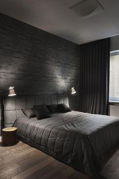 Coole Mannliche Schlafzimmer Fur Herren Schwarz Und Grau In 2020