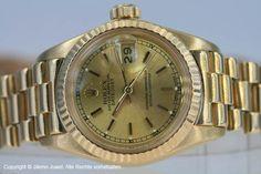 Rolex Oyster Perpetual Datejust Lady 750 18 K Gelbgold bei Jilemo-Juwel Neuer Wall 80 in 20354 Hamburg