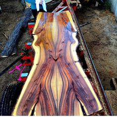 got a hold of some beautiful mesquite wood. Talk about some beautiful grain ! Mesquite Wood, Wood Table Design, Rustic Furniture, Furniture Ideas, Work Chair, Wood Mantels, Out Of The Woods, Garden Doors, Live Edge Table