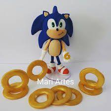 topo de bolo do sonic Bolo Sonic, Smurfs, Character, Decorating Cakes, Kids Part, Lettering