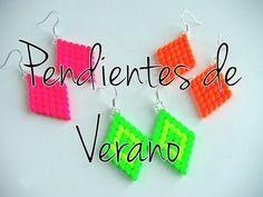 Abalorios DIY - Pendientes de Verano con Superduo Neon ( aretes )