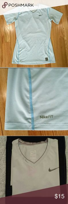 Nike FitDry sporty tops Super comfy baby blue sporty tops by Nike. Good condition! Size small. Nike Tops