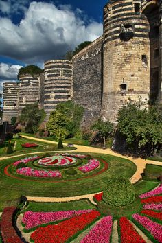 The Château d'Angers is a castle in the city of Angers in the Loire Valley, in the département of Maine-et-Loire, in France. Founded in the 9th century by the Counts of Anjou, was expanded to its current size in the 13th century.