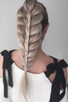 26 gorgeous braided hairstyles you will love 25 * remajacantik Pretty Braids, Cool Braids, Beautiful Braids, Gorgeous Hair, Amazing Braids, Pretty Braided Hairstyles, Hairstyle Look, Braided Ponytail, Braid Hairstyles