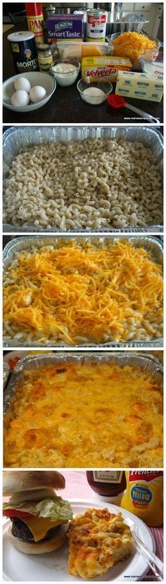 Sweetie Pie's Macaroni & Cheese Ingredients 1 pound elbow macaroni 1 cup whole milk 2 12-ounce cans evaporated milk 3 eggs 1 cup butter, cut into small pieces ½ pound Colby cheese, grated ½ pou...