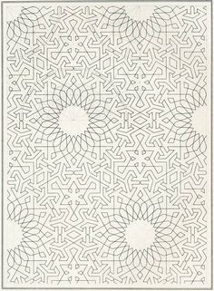 Islamic geometric pattern draft, c. 1840 https://www.facebook.com/pages/Healthy-Vibrant-You/381747648567846