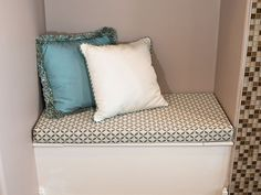 Quick and easy box cushion in its built-in seat location