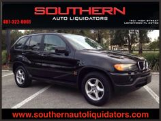 2003 BMW X5 3.0i - $6,389. Use SUV for sale in Longwood FL. The vehicles on our lot have the best prices and quality in the area so come by and see us today! @sharon murphy Auto Liquidators 407-322-0001. 1931 High St. Longwood, FL. 32750