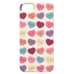 Candy Hearts Valentine Messages iPhone Case iPhone 5 Case => http://www.zazzle.com/candy_hearts_valentine_messages_iphone_case-179105630796746224?CMPN=addthis&lang=en&rf=238590879371532555&tc=pinHPICcandyheartsvalentinephonecase