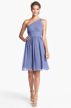 Donna Morgan 'Rhea' One-Shoulder Chiffon Dress (Regular & Plus) available at #Nordstrom